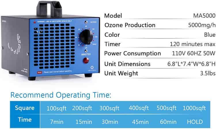 Airthereal MA5000 generador de ozono comprar